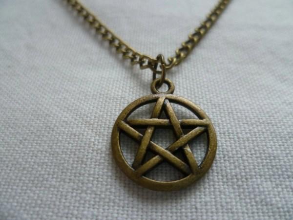 Pentagram Necklacepentacle Necklacewiccan Jewellerypagan