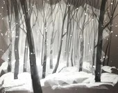 Snowy Woods (2) Original Painting