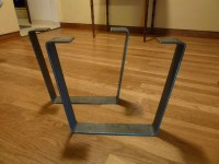 Metal Coffee Table Legs 2.5 in. Steel Flat Bar Trapezoid