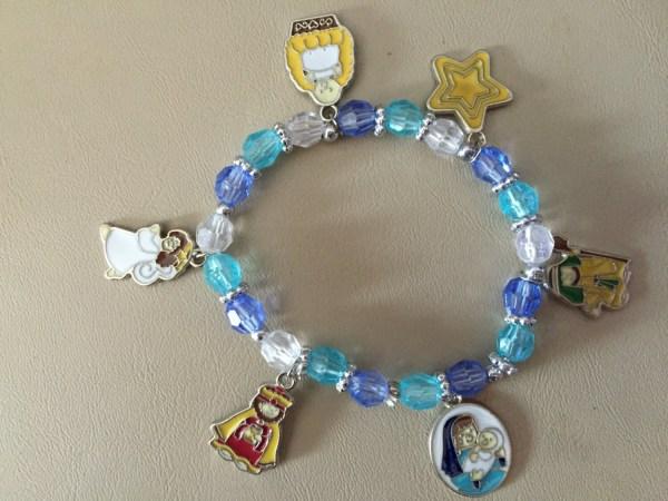 Nativity Bracelet Stretch Bracelet Beaded Bracelet Charm