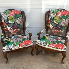 How To Replace Cane Back Chair With Fabric Cheap Computer Pair Chairs Schumacher Chiang Mai Dragon Alabaster