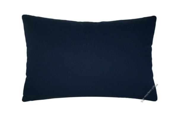 Navy Blue Solid Decorative Throw Pillow Cover / Pillow Case