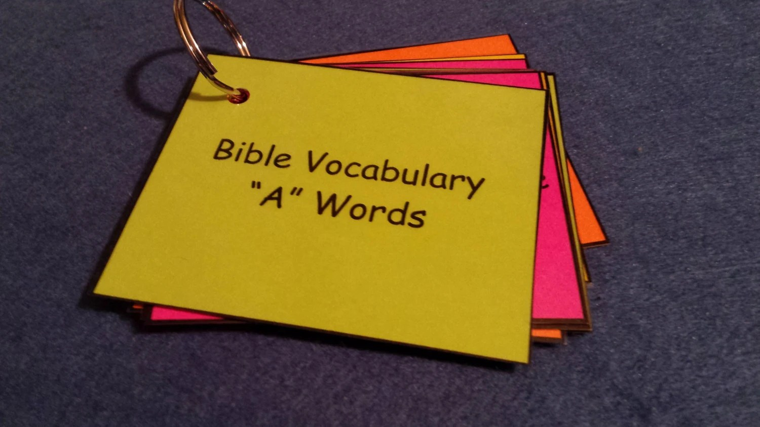 Bible Vocabulary Words Amp Definitions Laminated Spelling