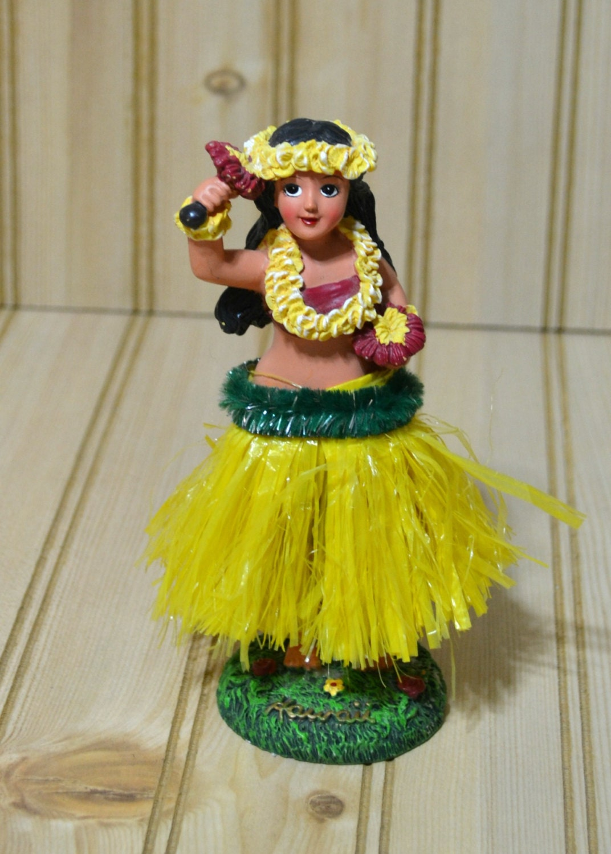 Vintage Hula Girl Dancer Dashboard Car Bobblehead S Hawaii