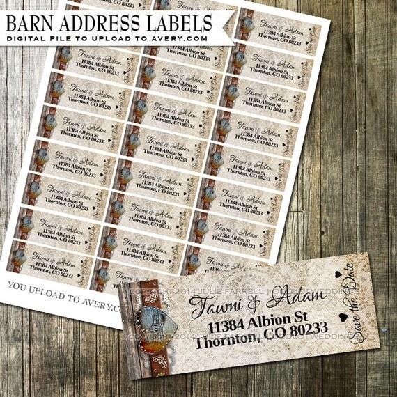 avery wedding address labels