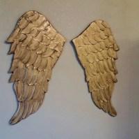 Angel Wings Wall Art Carved Look Wood Angel by ...