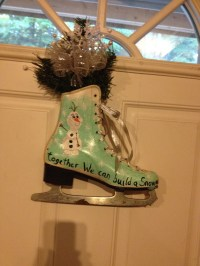 Hand Painted Ice Skate Door Decoration