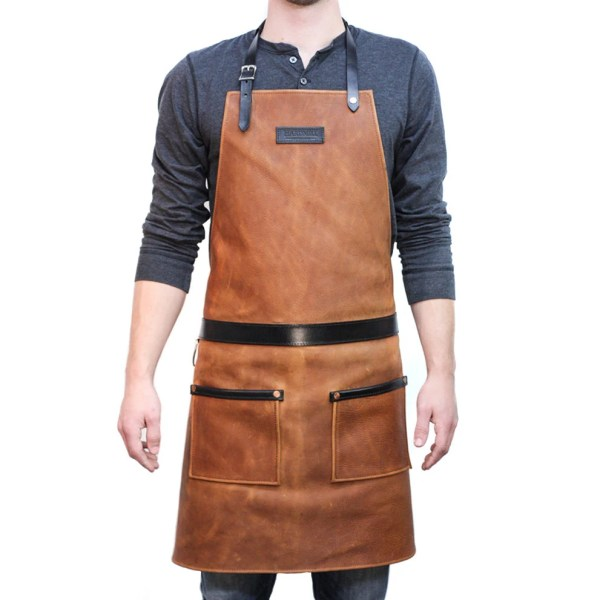 Rugged Apron Leather Cognac