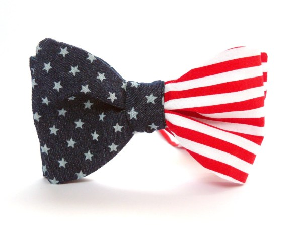 American Flag Bow Tie Bartekdesign 4th July Usa Stars