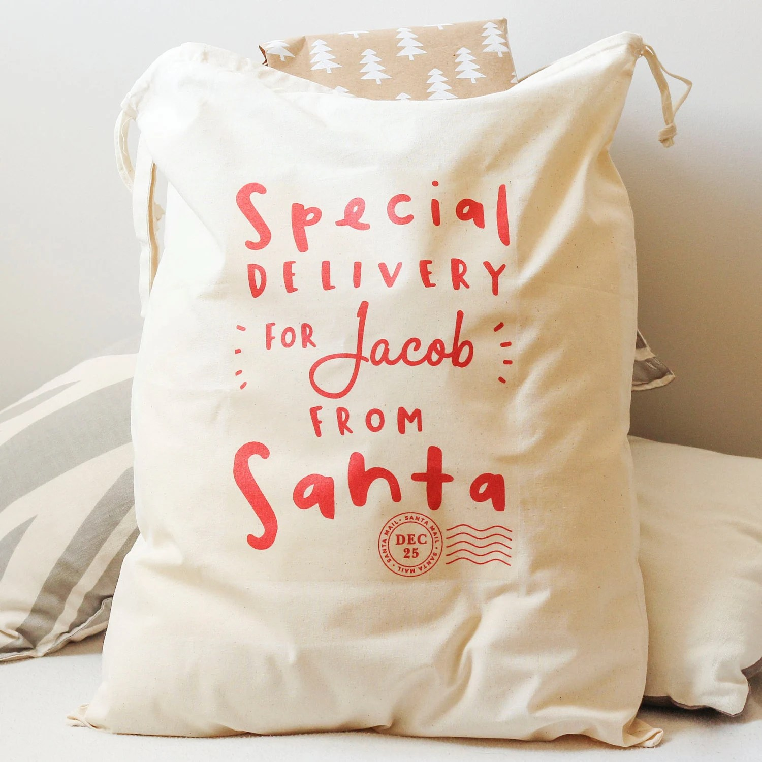Santa Sack Personalised Santa T Sack Personalised
