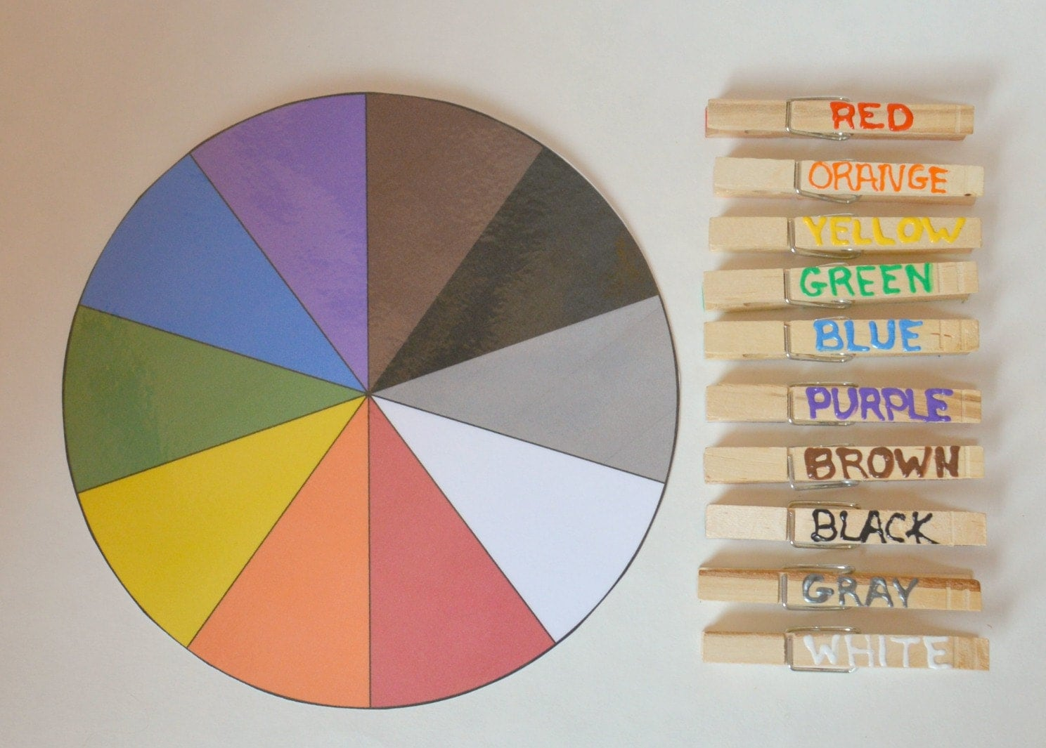 Busy Bag Color Wheel Color Matching Preschool By