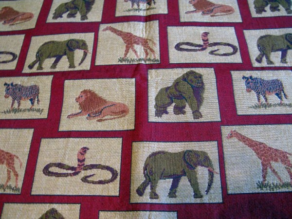 Elephant Tapestry Fabric Upholstery Fabric Designer Fabric