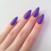 matte purple stiletto nails nail