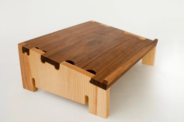 Walnut And Ash Laptop Stand Digital Joinery Design Wood