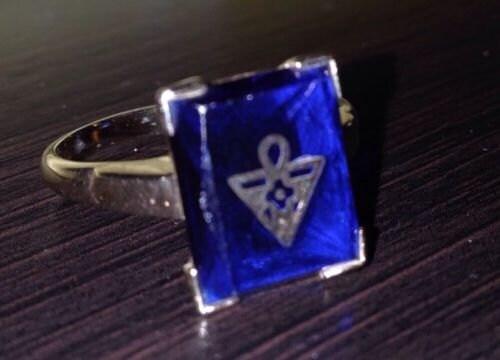 Amorc Rosicrucian Order Rare Vintage Membership Ring Womens