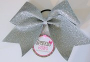 silver glitter large cheer hair