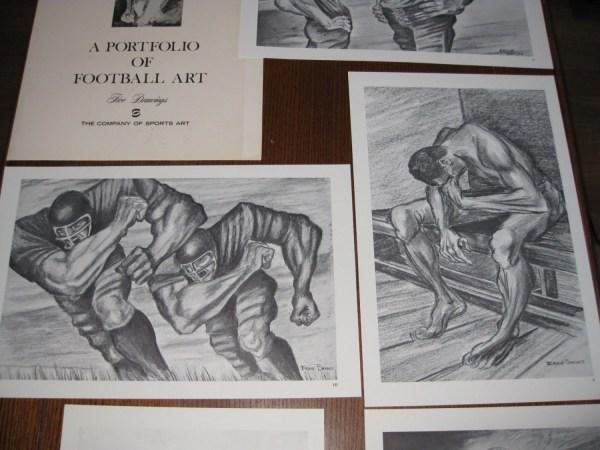 Complete Set Ernie Barnes' Portfolio Of Football Art