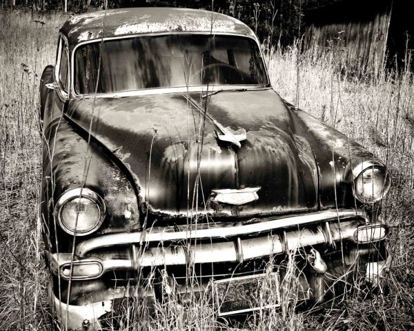 Chevy Car Art Black And White Print Wall