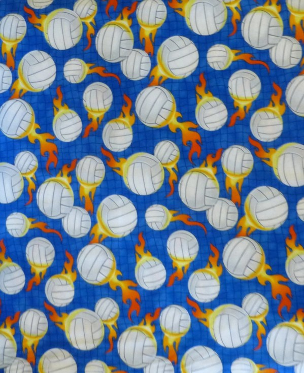 Cotton Fabricquiltclothing Sports Volleyball Fabric