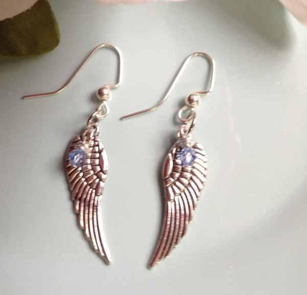 Angel Wing Earrings Swarovski Dakotadesignbyvicki