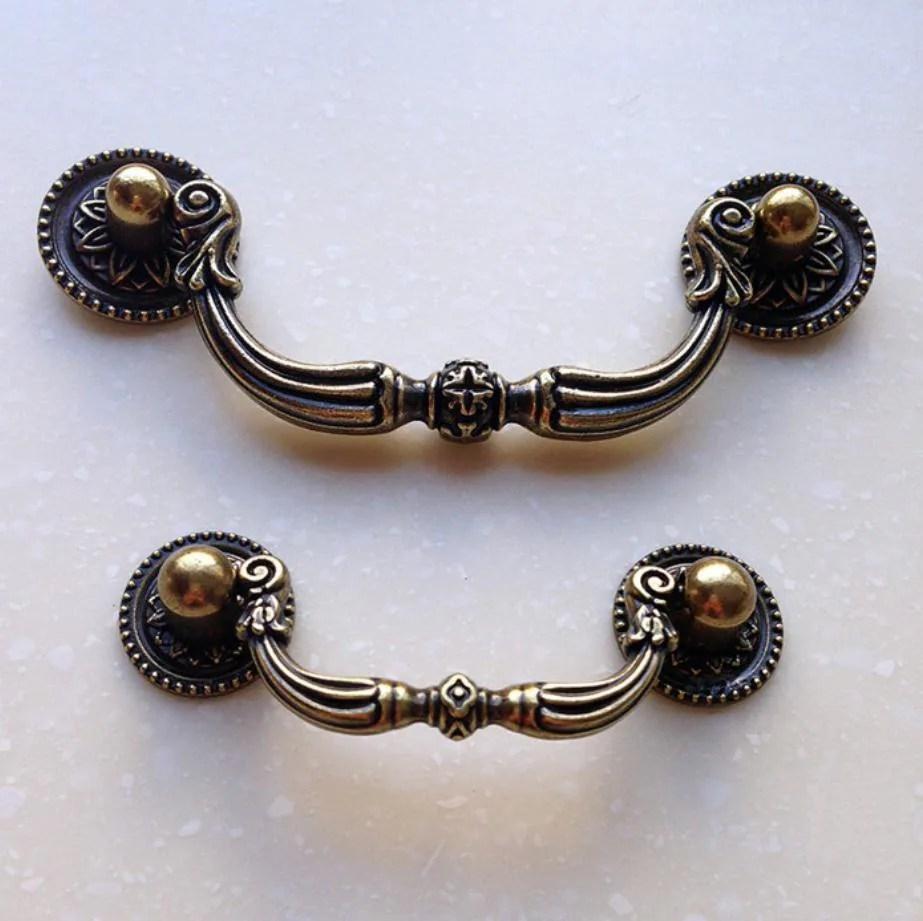 Brass Dresser Drawer Pulls Knobs Handles drop Antique Bronze