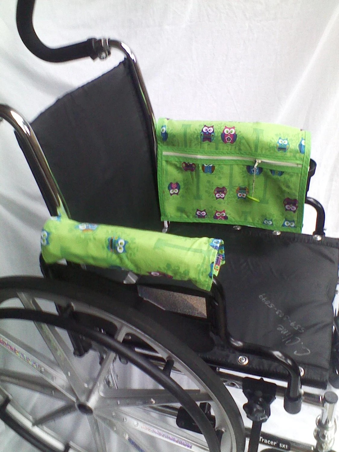 chair arm protectors with pockets web lawn chairs wheelchair armrest pouch bag or walkerlined zippered pocket