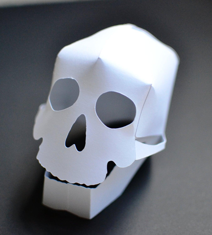 Diy 3d Paper Skull Craft Kit