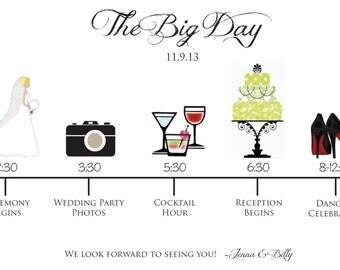 Day of the Wedding Timeline Customizable Printable PDF