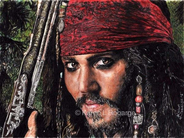Johnny Depp Jack Sparrow. Limited Edition Poster Print 11 X
