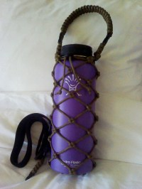 40 oz Handmade Hydro Flask Holder with interchangable shoulder