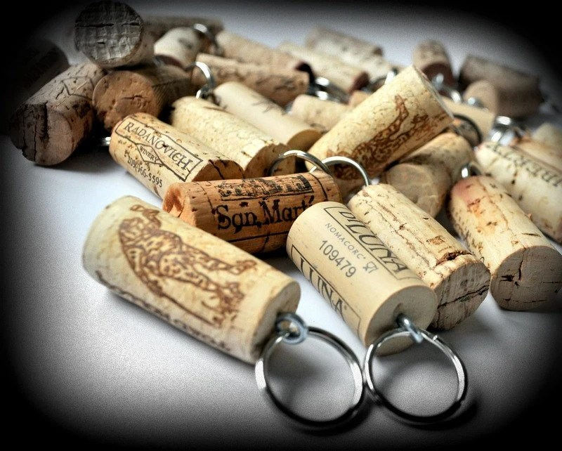 Items Similar To SALE 25 Wine Cork Keychains, Great Favors