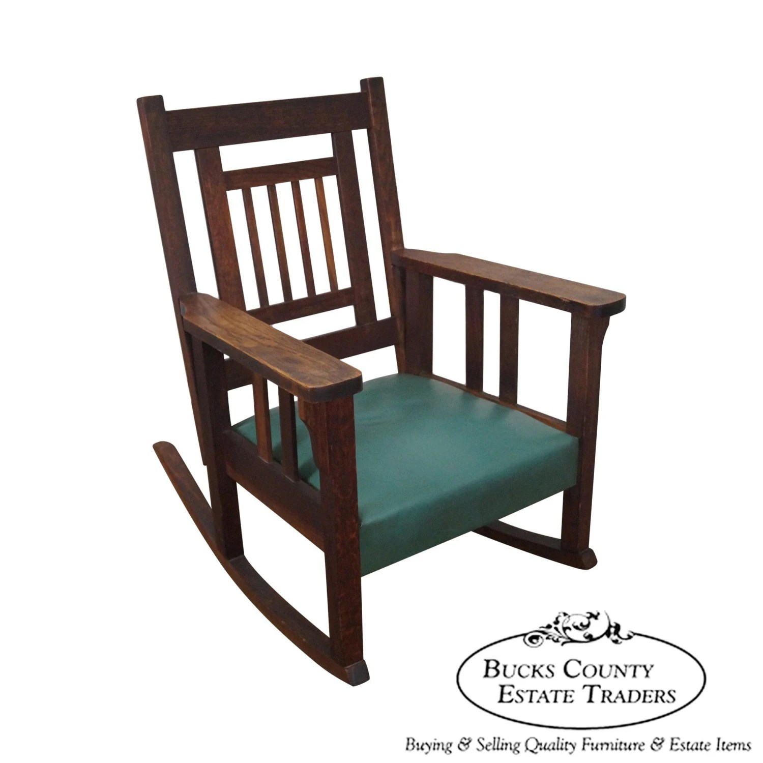Rocky Chair Antique Mission Oak Stickley Style Rocker Rocking Chair