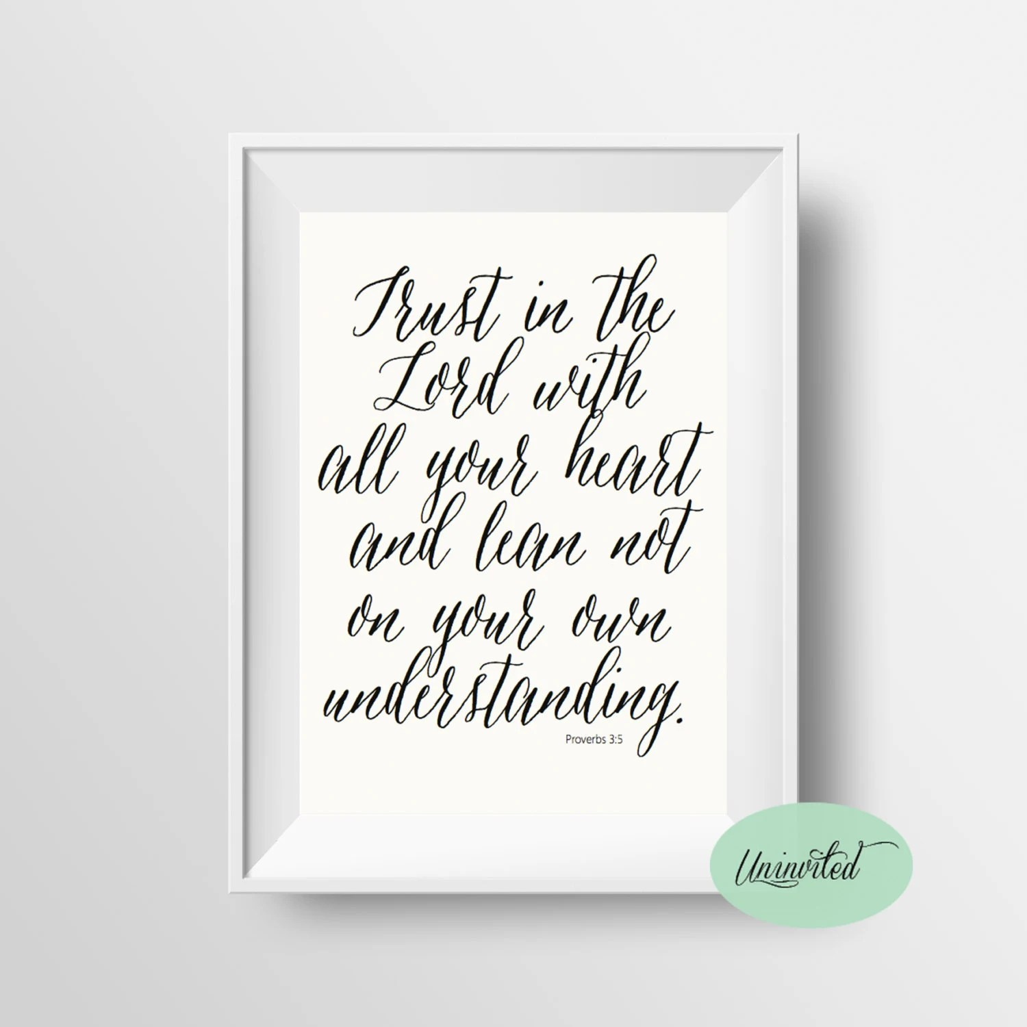 Trust In The Lord Printable Wall Art Instant Download