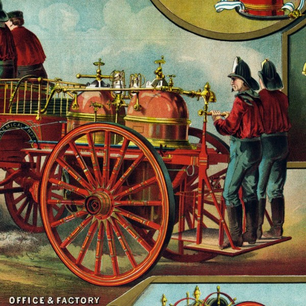 Fire Fighting Supply Ad - Vintage Art Print Antique