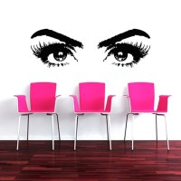 Makeup Wall Decal Vinyl Sticker Decals Art by TrendyWallDecals