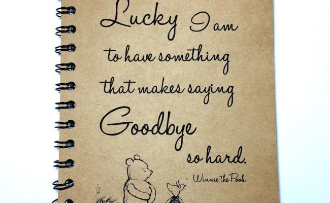Winnie The Pooh Goodbye Gift Best Friend Gift Saying