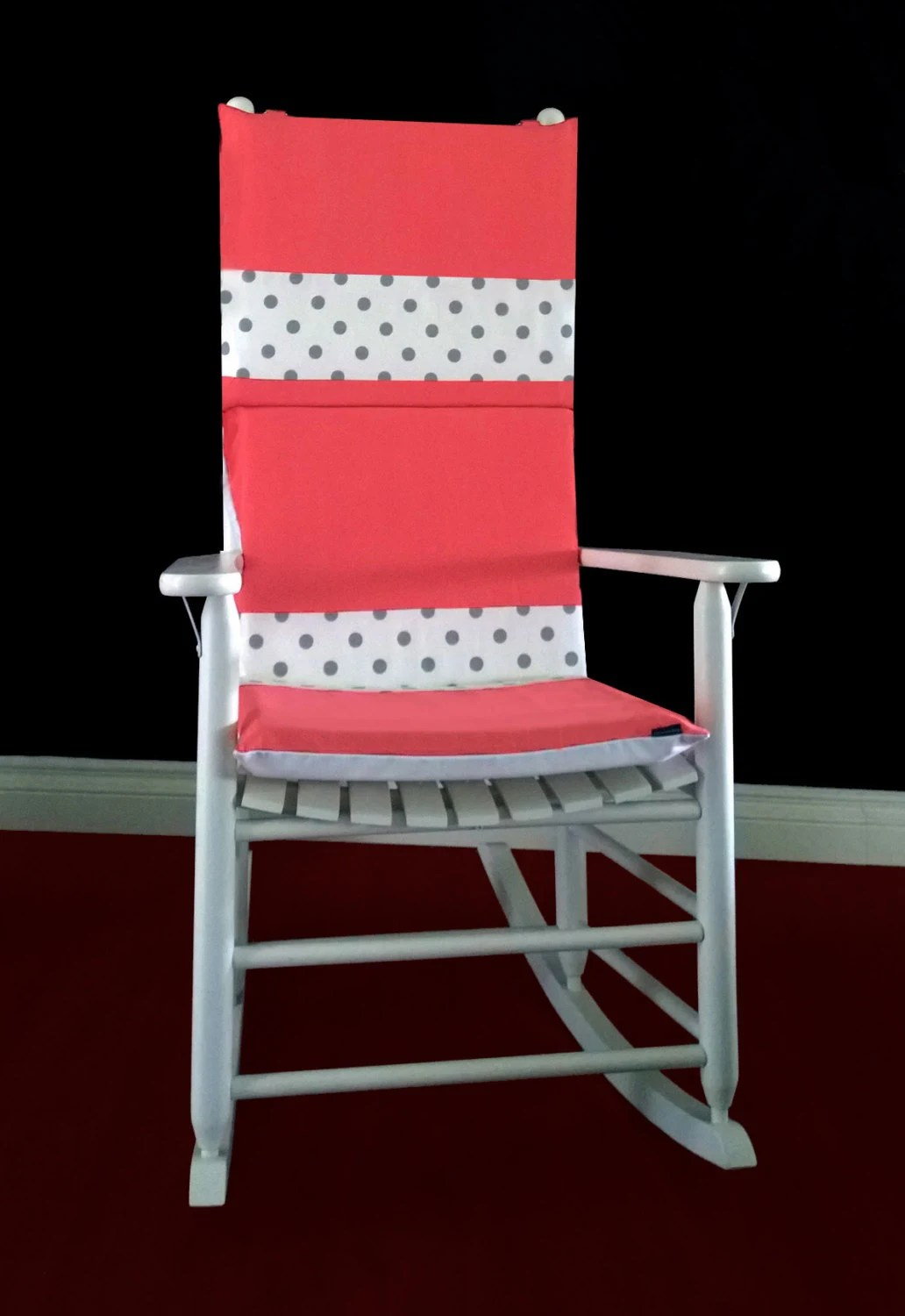 polka dot rocking chair cushions best message request a custom order and have something made just for you