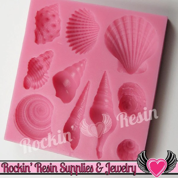 Ocean Seashells Silicone Mold Food Grade Flexible Sea Shell