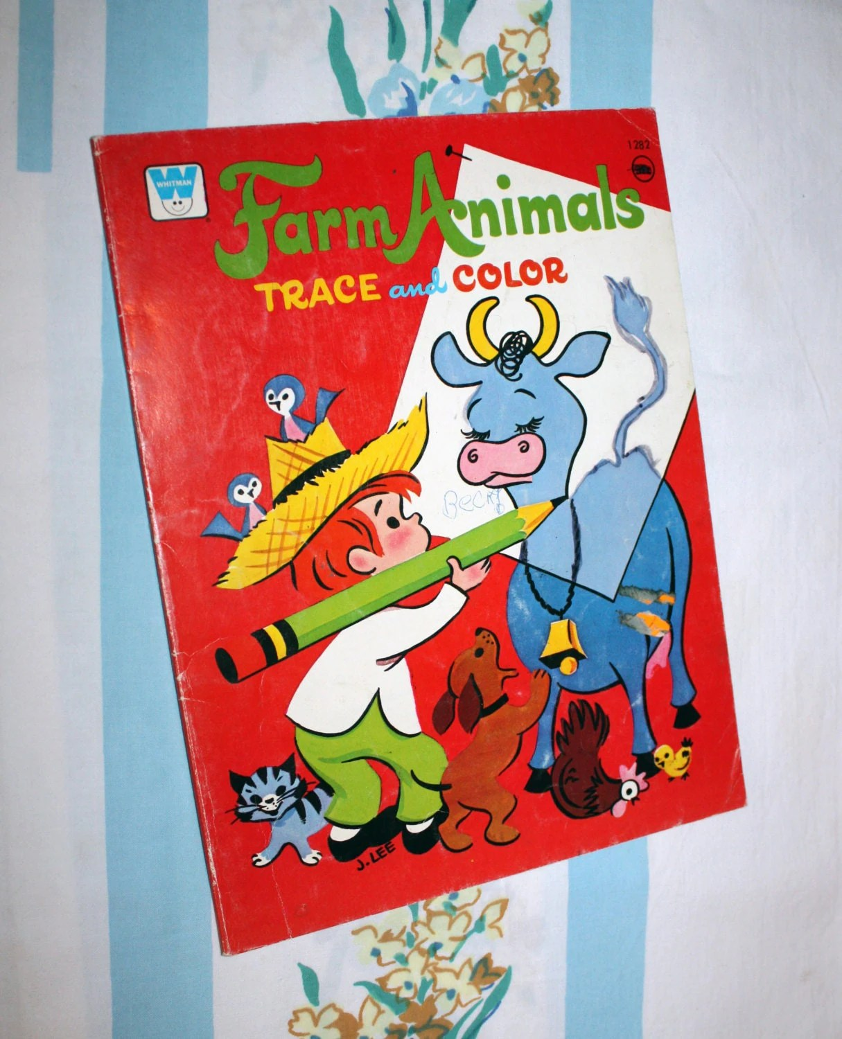 Farm Animals To Trace Amp Color Coloring Book