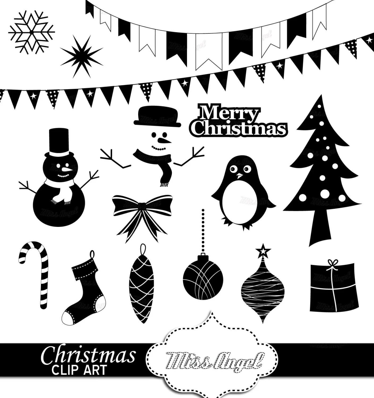 Weihnachten Clipart Silhouetten 16 Digitale Xmas Ausdrucke