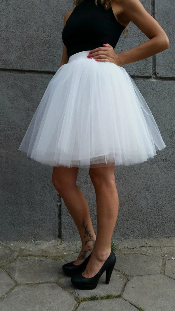 Women Tulle Skirt Knee Length Tutu Princess