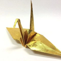 Origami Paper Crane Diagram Case 446 Tractor Wiring 100 In Gold With Rose Pattern 6 Inch