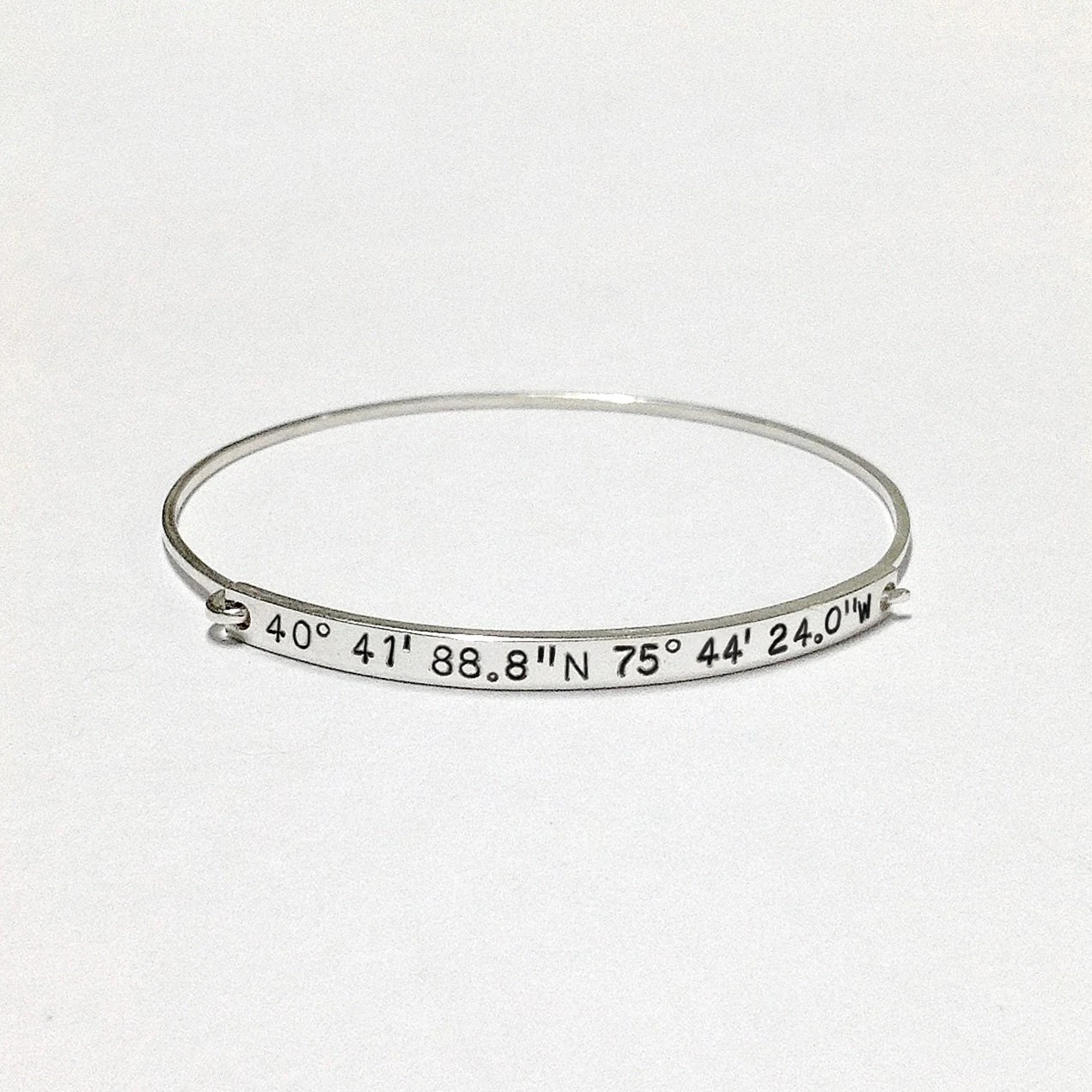20% OFF: Coordinates Bracelet With Hidden Message by
