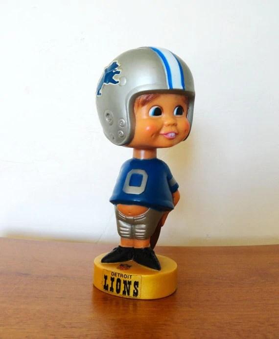 Vintage Detroit Lions NFL Bobblehead by RetroJasmine on Etsy