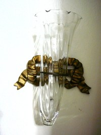 Items similar to Wall Hanging Glass Cone Vase Sconce ...