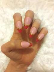 pink gold rhinestone stiletto
