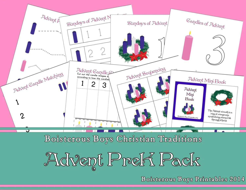 Advent Preschool Early Learning Printable By Boisterousboys