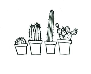 cactus embroidery hand pattern patterns simple pdf clipart quirky designs cacti sewing stitch google outline drawing drawings flowers applique visit