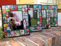 Items similar to Recycled Pop Can Geometric Wall Art on Etsy