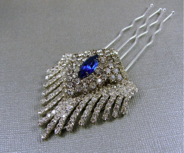 20+ Royal Blue Rhinestone Hair Clip Pictures and Ideas on Meta Networks f5c2abc36106